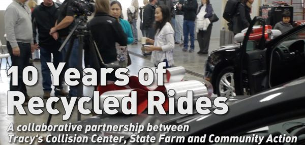 Tracy's Collision Center Recycled Rides 10 Years